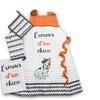 L'amour D'un Chien  Orange 4 Piece Kitchen Set