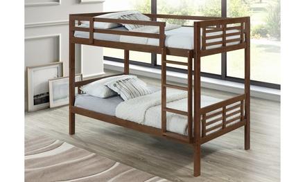Harriett Solid Rubberwood Twin-sized Bunk Bed