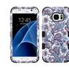 Insten Tuff Flower Hard Hybrid Case For Samsung Galaxy S7 Purple/white