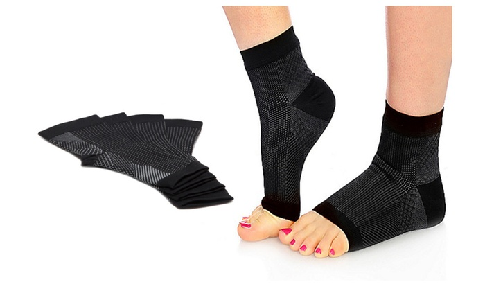 88d161b6d0 Foot Angel Pair of Anti-Fatigue Compression Foot Sleeves Elastic Socks