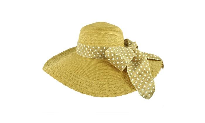 5fa5c06b9ff Faddism Stylish Women Summer Floppy Hat with Bow ...
