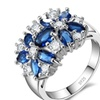 Sparkling Crystal Sterling Silver Ring for Women