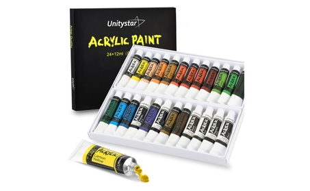 Acrylic Paint Set with 24 Vibrant Colors & Rich Pigments 13763c8f-6966-4a05-96f7-ce40c019d937