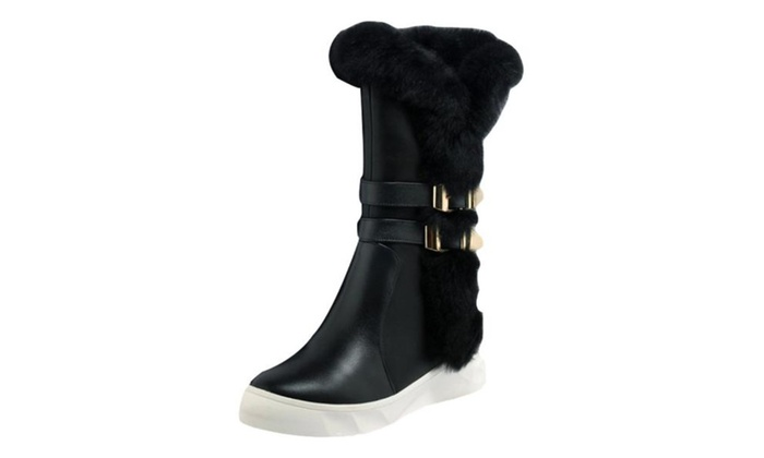 Women's Pull on Solid Simple Snow Boots