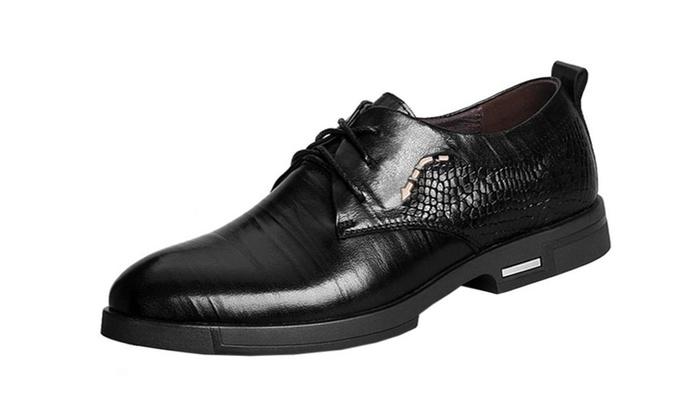 Men's Simple Low Heel Business Shoes