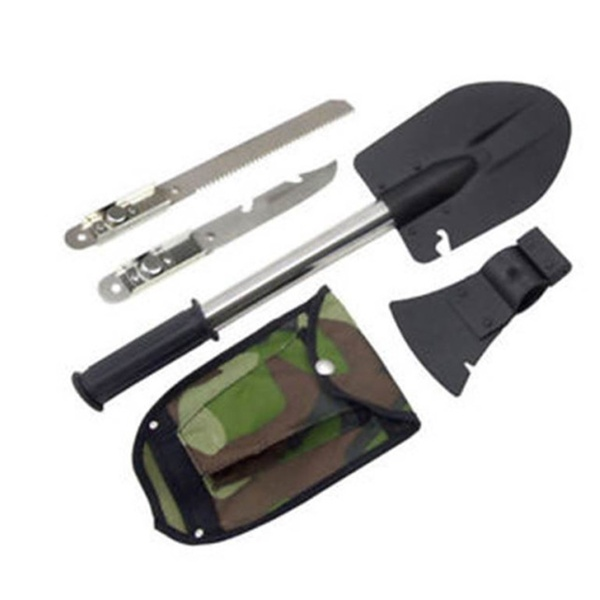 Multifunctional Survival Shovel Axe Saw Gut Camping Hiking Emergency Gear Tools