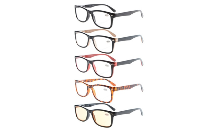 Eyekepper 5-Pack Classic Spring-Hinge Reading Glasses R075-Mix