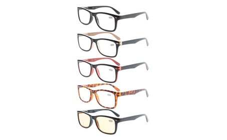 Eyekepper 5-Pack Classic Spring-Hinge Reading Glasses R075-Mix 7914b64f-e2dd-4947-88f4-84150da3ab94
