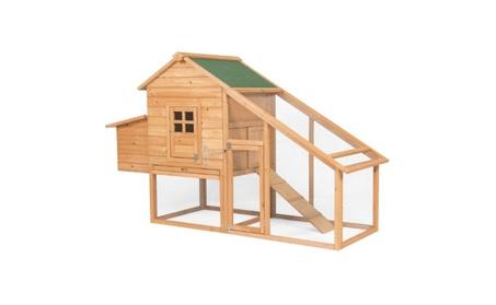 75in Backyard Wooden Chicken Coop Poultry Nest Box Hen House (Goods Pet Supplies Bird Supplies) photo