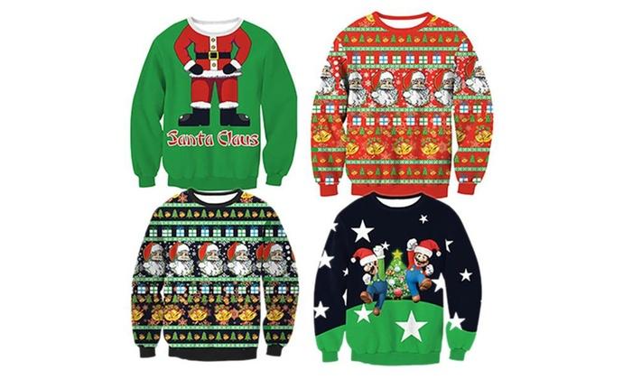 Unisex X-mas Funny Shirt Christmas Ugly Sweater Sweatshirts