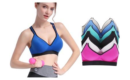Romabra Wire-Free Bra For Women Comfort Cotton Sport Bra Set 6 Pack