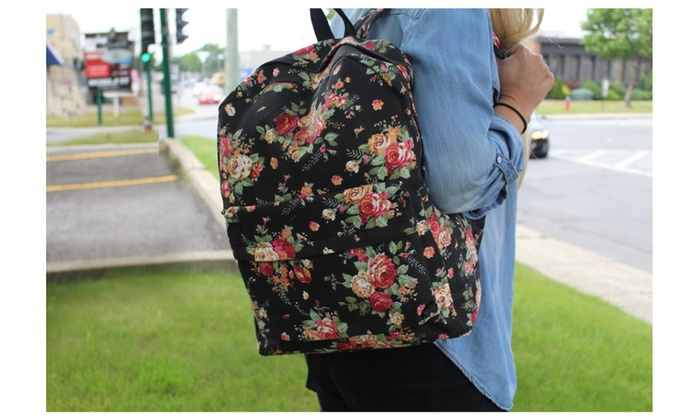 Back To School Floral Backpacks Assorted Colors