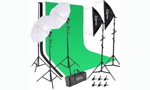 135W Photography Studio Muslim Backdrops Background Support Set Lighting Kit