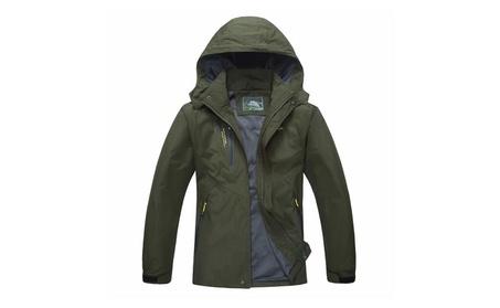 Men's Mountain Sportswear Waterproof Jacket Hooded Windproof Raincoat