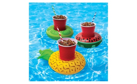 3pk Inflatable Fruit Cup Drink Can Holder Pool Float 39ccc85b-081d-403b-9c2f-249efe443f36