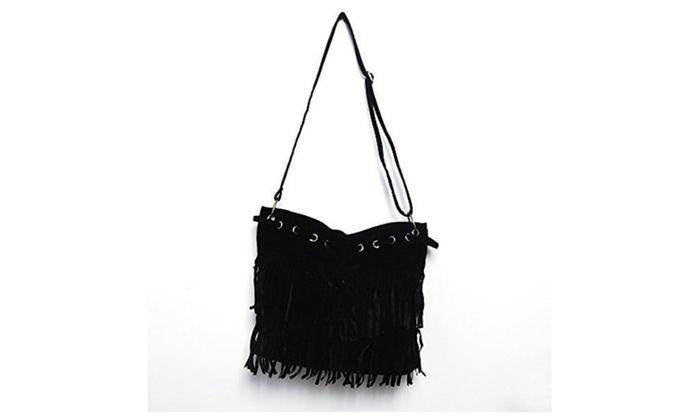 Handbag Shoulder Bags for Girl Women Office lady (Black) – Black / Large