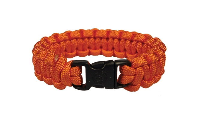 Superior Nylon Survival Bracelet Small Orange 2 Pack