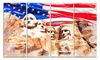 Mount Rushmore and US Flag - American Landscape Canvas Art