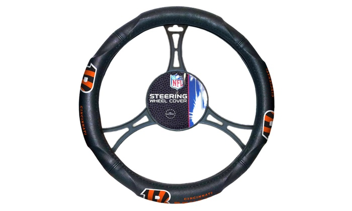 NFL 605 Bengals Car Steering Wheel Cover