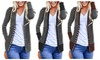 Women's Long Sleeve Striped Snap Button V Neck Cardigans