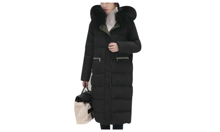 Women's Fashion Windproof Solid Slim Fit Simple Down Coat