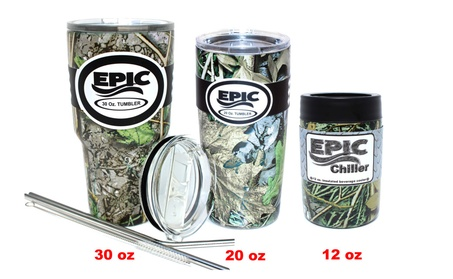 6 Pc Insulated Tumbler Set Thermal Coffee Mug and Cold Cup by Epic 48cc89ee-2e21-4895-9220-f331213c2b1d