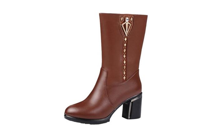 Women's Sequin Zip Casual Martin Boots
