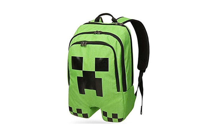 Minecraft ThinkGeek Licensed Minecraft Creeper Backpack – green / One Size