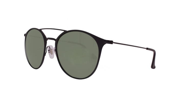 Ray Ban Round RB3546 186/9A 52 Black / Polarized Green Classic G-15