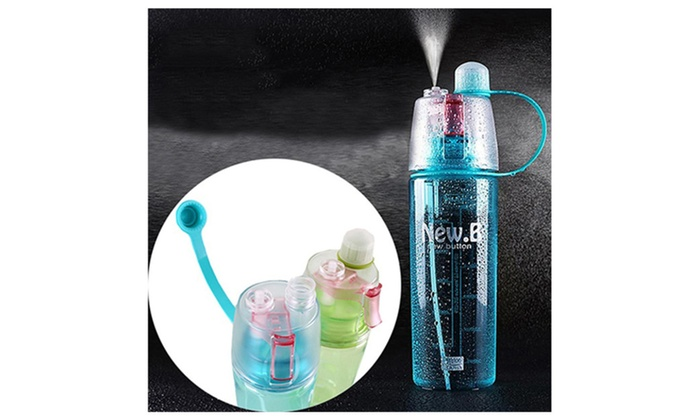 Outdoor Portable Creative Sport Water Spray Bottle Leak Proof Sprayer