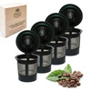 4 Reusable Single Cup Keurig Solo Filter Pod Coffee Stainless Mesh