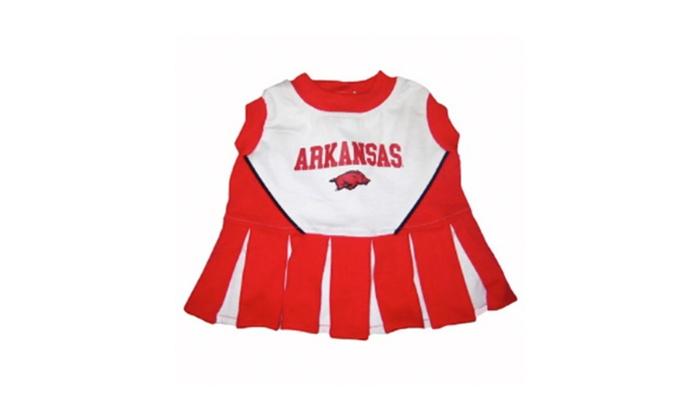 Pets First Arkansas Velcro Cotton Dog Cheerleader Dress
