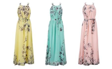 Halter Neck Floral Print Maxi Dress 6f3a5e19-52d8-487a-983a-24c048499a9d