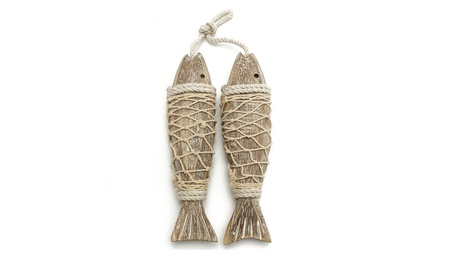 Hand Carved Hanging Wood Fish Ornaments Wall Sculptures For Home Decor 5992120c-01b4-4e23-a919-71258f1b7c5d