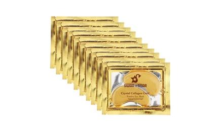20Pairs EZGO 24k Gold Gel Under Eye Mask Collagen Pads Dark Circles Anti-Aging