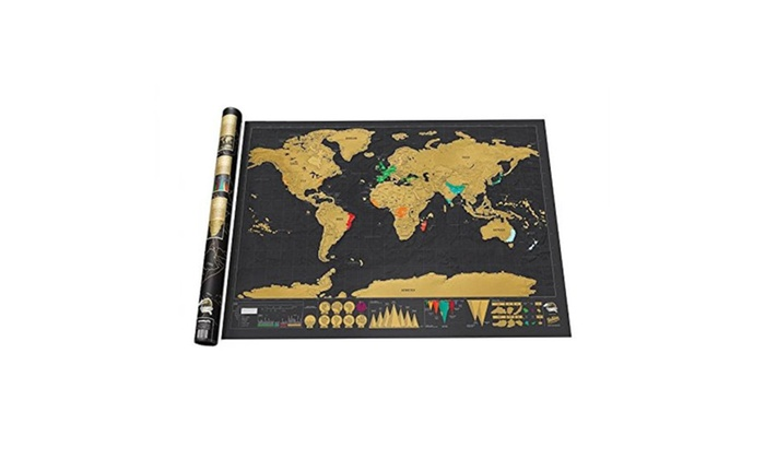 Travel edition scratch off world map poster personalized journal log gumiabroncs Gallery
