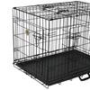 GoPetClub Three-Door Metal Dog Crate with Divider