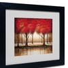Rio 'Parade of Red Trees' Matted Black Framed Art