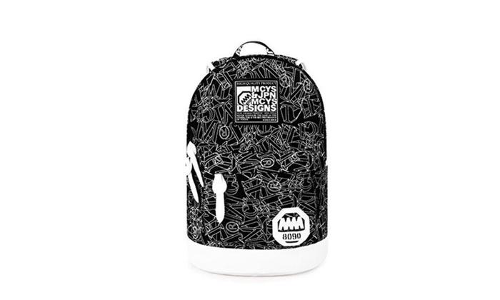 Tifinei Canvas Cool Cute Book Bags High School Backpacks for Teens