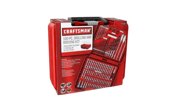 Craftsman 100 Pc Drill Bit Driver Power Tools Drilling Tool Set Bits
