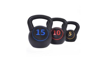 PRO Home Gym 3 PCS Kettlebell Kit Body Muscles Training Weights 3a6c336b-79f0-4480-8a8e-16b5b2c4828d