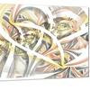 Symmetrical Spiral Fractal Flowers Metal Wall Art 28x12