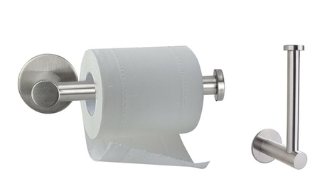 Stainless Steel Bathroom Wall Mount Rolling Toilet Paper Holder Rack