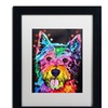 Dean Russo 'Westie' Matted Black Framed Art