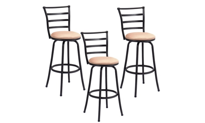 Pleasant Costway Modern Swivel Bar Stool 3 Pack Alphanode Cool Chair Designs And Ideas Alphanodeonline