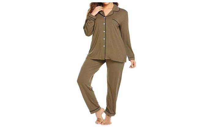 a925924e9 Up To 23% Off on Pajamas Set Long Sleeve Sleep... | Groupon Goods