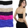 (6 Pack) Women's Floral Lace Back Padded Bandeau Tube Bras