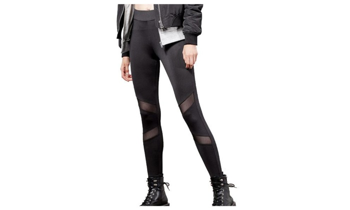 Women's Mid Rise Pull On Style Simple Long Skinny Leggings