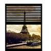 Philippe Hugonnard Window View Paris at Sunset 5 Canvas Print 24 x 32