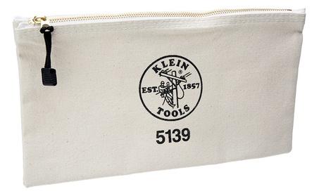 Klein Tools 409-5139 Canvas Zipper Bag, White cf38a62d-0409-4b59-b0f4-f32a980d76fb